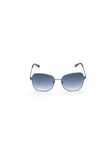 Swarovski Swarovski SWR 0181 84Z Dikdörtgen ÇerÇeve  Gövde Cam Kadın Güneş Gözlüğü Mavi